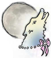 A Wolf. The Moon. And a Girlie-Bow.