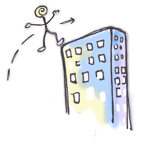 Leaping Over Tall (imaginary) Buildings In Single Bounds! Yay!