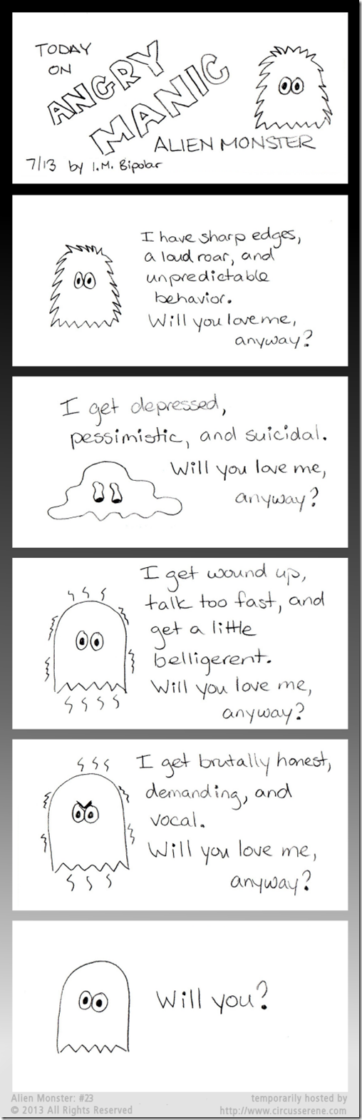 Today On Angry Manic Alien Monster: Comic #23