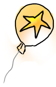 It's your lucky day... a gold star AND A balloon!
